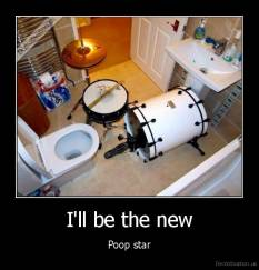 drums, in, toilet